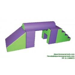 SET FIGURAS 60 escalera + rampa + puente softee