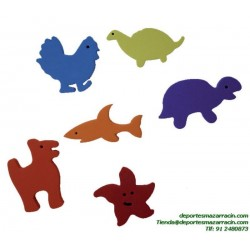SET ANIMALES FOAM softee