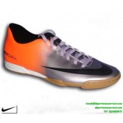 Nike MERCURIAL Cristiano Ronaldo GRIS-NARANJA 2014 zapatilla fútbol sala VORTEX IC