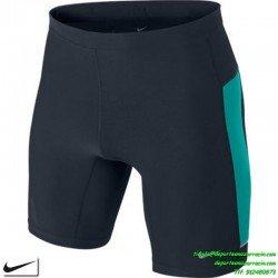 Nike Malla running corta lycra negro-verde