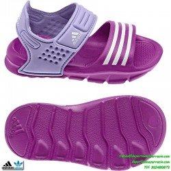Adidas AKWAH 8 Morado NIÑA sandalia chancla