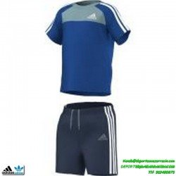 conjunto Adidas baby niño SUMMER SET azul