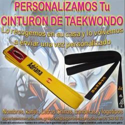 PERSONALIZAR CINTURÓN de TAEKWONDO (Incluida la Recogida)