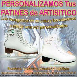 PERSONALIZAR PATINES de PATINAJE ARTÍSTICO sobre HIELO (Incluida la Recogida)