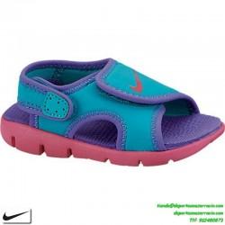 Sandalia Nike SUNRAY 4 TD niña morado talla 20-27
