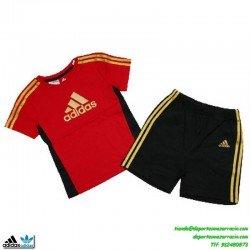 conjunto Adidas niño rojo I J FBALL SET