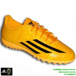 Adidas F50-F5 MESSI AMARILLO 2014 zapatilla futbol calle infantil TURF