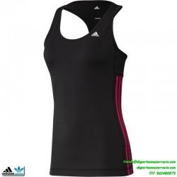 ADIDAS camiseta tirantes deporte mujer Negro TRANSPIRABLE clima cool mujer gimnasio correr running D89738