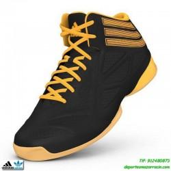 Bota baloncesto ADIDAS NEXT LEVEL SPEED 2 infantil negro zapatilla personalizar poner nombre numero bandera C75838