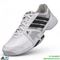 Adidas BARRICADE TEAM 3 blanco Zapatilla de tenis suela espiga padel personalizar poner nombre bandera M19749