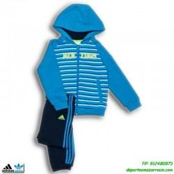 Adidas Chandal baby I J COLLEGIATE Niño Azul bebe ALGODON recien nacido meses hasta años M64854