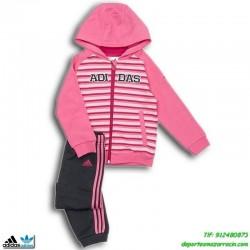 Adidas Chandal baby I J COLLEGIATE Niño Rosa bebe ALGODON recien nacido meses hasta años M64856