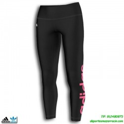 Adidas Malla  RL TIGHT Lycra ajustada Negro-Rosa Clima cool leggin gimnasio fitness deporte chica mujer M63701