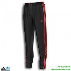 Adidas Pantalon YB S TIRO PANT CH chico Negro-Naranja poiliester ajustado Clima lite gimnasio fitness deporte M63244