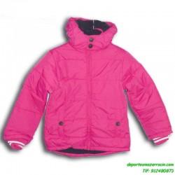 Abrigo PARA  NIÑAS Joluvi COLE color ROSA chaqueta parka anorak infantil junior capucha acolchado niño junior infantil chica