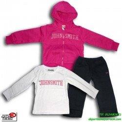 chandal deporte ALGODON niña john smith ASCARZA rosa chaqueta pantalon camiseta colegio junior infantil