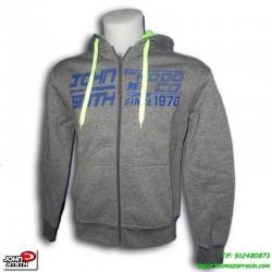 Sudadera John Smith Hombre URGENA color gris algodon capucha sportwear chico deporte oferta barata