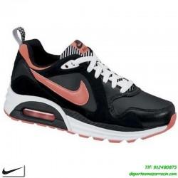Nike AIR MAX TRAX Negro-Rosa Zapatilla con CAMARA DE AIRE clasica chica mujer sportwear personalizar nombre 644470-003