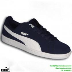 PUMA SMASH BUCK AZUL MARINO zapatilla CLASICA Hombre MODA deportiva sportwear PERSONALIZAR 356753-01