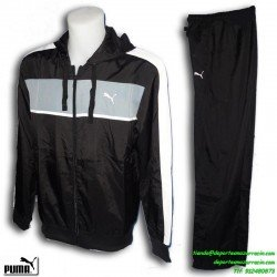 PUMA chandal FUN WOVEN HOODED SUIT color NEGRO hombre chico deporte gimnasio poliester tactel microfiblra 830050-49