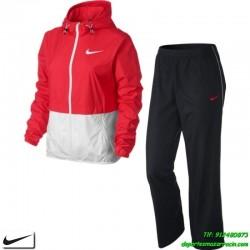 Nike CHANDAL MUJER  Microfibra transpirable Rosa-blanco