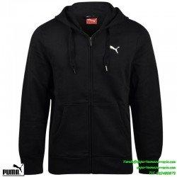 PUMA SUDADERA ESS Hooded Jacket  Fleece  color NEGRO Para Hombre algodon capucha sportwear chico deporte  823987-01
