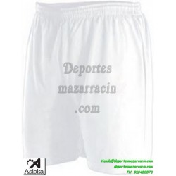 Asioka PANTALON CORTO 90/08 Futbol Deporte color BLANCO equipacion short deporte talla