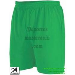 Asioka PANTALON CORTO 90/08 Futbol Deporte color VERDE equipacion short deporte talla