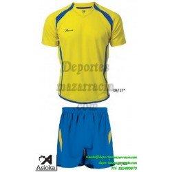 Asioka CONJUNTO CAMISETA PANTALON 80/09 FUTBOL deporte color amarillo equipacion talla