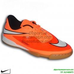 Nike HYPERVENOM JUNIOR NARANJA 2014 neymar ISCO zapatilla futbol niño sala infantil IC indoor personalizar nombre 599842-800