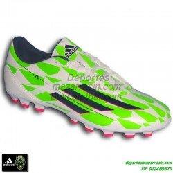Adidas F50-F10 JAMES BALE BLANCO VERDE bota futbol hierba artificial tacos AG personalizar poner nombre bandera M25013