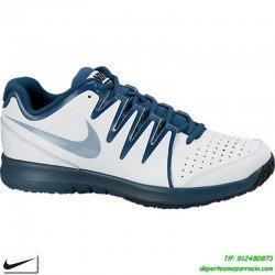 Nike VAPOR COURT BLANCO AZUL Zapatilla tenis SUELA ESPIGA hombre personalizar nombre bandera 631707-104