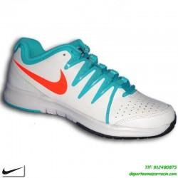 Nike VAPOR COURT BLANCO VERDE Zapatilla tenis SUELA ESPIGA hombre personalizar nombre bandera 631707-104
