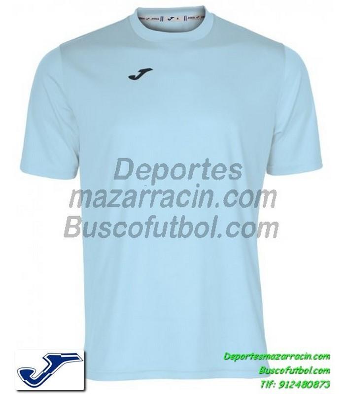 Joma Camiseta Combi Color Azul Celeste Futbol Manga Corta Talla - Color-azul-celeste