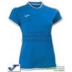 JOMA CAMISETA KATY WOMAN color AZUL ROYAL Futbol Manga Corta femenino mujer talla equipacion 900017.700