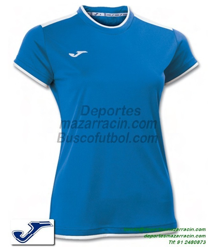 e0852ea6b54d5 JOMA CAMISETA KATY WOMAN color AZUL ROYAL Futbol Manga Corta femenino mujer  talla equipacion 900017.700