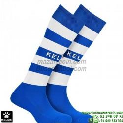 KELME GOL MEDIAS Futbol RAYAS color AZUL BLANCO equipacion deporte calcetin talla SOCK hombre niño 93114-196