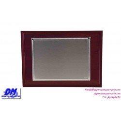 Placa de Homenaje baño plata de ley 97217 diferentes tamaños premio pallart grabado laser personalizado