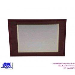 Placa de Homenaje baño plata de ley 97230 diferentes tamaños premio pallart grabado laser personalizado