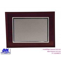 Placa de Homenaje baño plata de ley 97215 diferentes tamaños premio pallart grabado laser personalizado