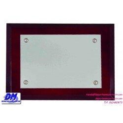 Placa de Homenaje de ALPACA 97203 diferentes tamaños premio pallart grabado laser personalizado