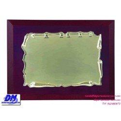 Placa de Homenaje 97216 chapa madera estuche diferentes tamaños premio pallart grabado laser personalizado