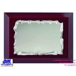 Placa de Homenaje 97238 chapa madera estuche diferentes tamaños premio pallart grabado laser personalizado