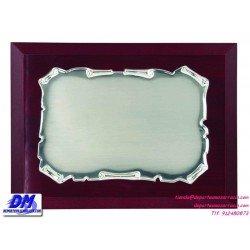 Placa de Homenaje 97229 chapa madera estuche diferentes tamaños premio pallart grabado laser personalizado