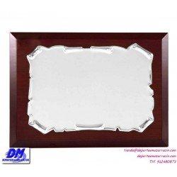 Placa de Homenaje 97233 chapa madera estuche diferentes tamaños premio pallart grabado laser personalizado