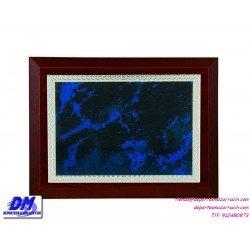 Placa de Homenaje 97311 chapa madera estuche diferentes tamaños premio pallart grabado laser personalizado
