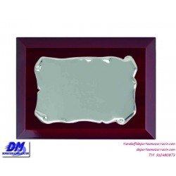 Placa de Homenaje 97630 chapa madera estuche diferentes tamaños premio pallart grabado laser personalizado