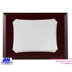 Placa de Homenaje 97242 chapa madera estuche diferentes tamaños premio pallart grabado laser personalizado