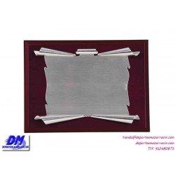 Placa de Homenaje 97235 chapa madera estuche diferentes tamaños premio pallart grabado laser personalizado