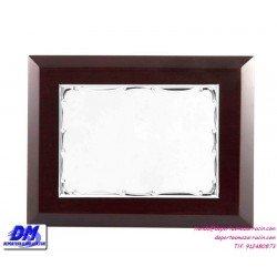 Placa de Homenaje 97303 chapa madera estuche diferentes tamaños premio pallart grabado laser personalizado